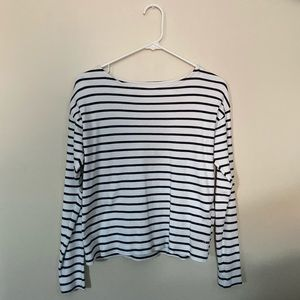 H&M black and white stripe long sleeve